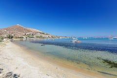 Plage de Kolymbithres dans Paros, Grèce images libres de droits