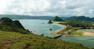 Plage de Kuta dans Lombok Photo libre de droits