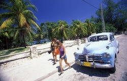 PLAGE DE L'AMÉRIQUE CUBA VARADERO Image stock