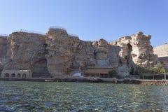 Plage de l'hôtel de plage de rêves dans le Sharm el Sheikh Image libre de droits
