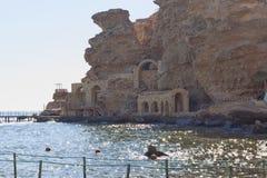 Plage de l'hôtel de plage de rêves dans le Sharm el Sheikh Image stock
