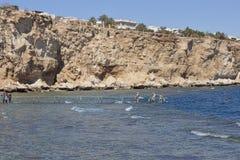 Plage de l'hôtel de plage de rêves dans le Sharm el Sheikh Images stock