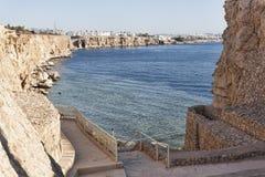 Plage de l'hôtel de plage de rêves dans le Sharm el Sheikh Photographie stock libre de droits