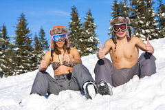Plage de l'hiver Photos libres de droits