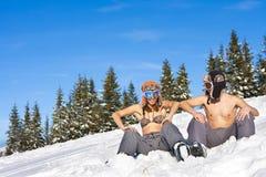 Plage de l'hiver Photo libre de droits