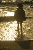 Plage de l'hiver Image libre de droits
