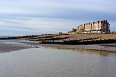Plage de l'hiver, Bexhill sur la mer, Angleterre Photos stock