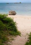 Plage de l'Okinawa images libres de droits