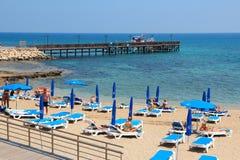 Plage de la Chypre Photos libres de droits