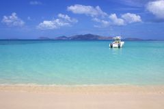 Plage de la crique du contrebandier dans Tortola, BVI, les Caraïbe photo libre de droits