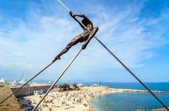 Plage de la Gravette,安地比斯,法国 免版税库存图片