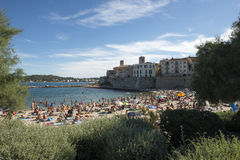 Plage de la Gravette, Antibes, France Photographie stock libre de droits