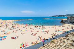 Plage De La Gravette, Antibes, France Royalty Free Stock Photos