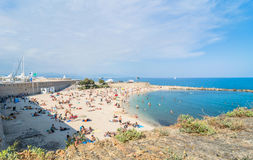 Plage De La Gravette, Antibes, France Stock Photos