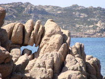Plage de la pierre à chaux de Bonifacio Photographie stock libre de droits