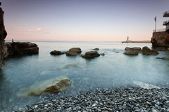 Plage de la reserve, Nice, France Photos stock