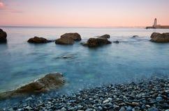 Plage de la reserve, Niza, Francia Fotos de archivo libres de regalías