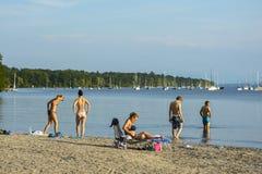 Plage de lac Ammersee Photos libres de droits