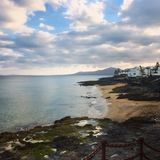 Plage de Lanzarote Photographie stock