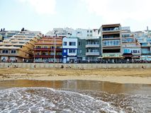 Plage de Las Palmas de gran canaria images libres de droits