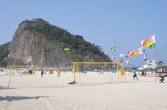 Plage de Leme en Rio de Janeiro Image libre de droits