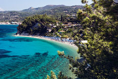 Plage de Lemonakia, Samos Images stock