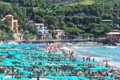 Plage de Levanto - l'Italie Photographie stock