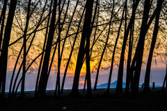 Plage de lever de soleil Photo libre de droits