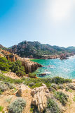 Plage de Li Cossi en Costa Paradiso Photo stock