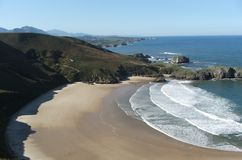 Plage de Llanes photos stock