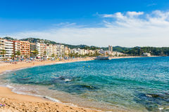 Plage de Lloret de mars Photos stock