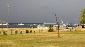 Plage de Lopar dans Lopar sur l'île de Rab en Croatie photographie stock libre de droits