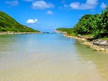 Plage De Los angeles Porte d'Enfer Guadeloupe Fotografia Stock