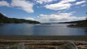 Plage de médecine sur l'île de Pender dans le Canada Photo stock