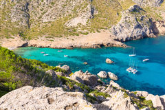 Plage de Majorca Cala Figuera de Formentor Majorque Photos libres de droits