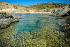Plage de Malfatano en Sardaigne du sud Photo stock
