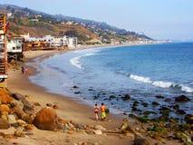 Plage de Malibu Photos libres de droits
