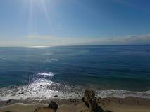 Plage de Malibu de jour ensoleillé Photo stock
