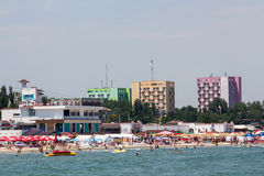 Plage de Mamaia Photo stock