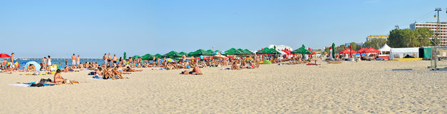 Plage de Mamaia en Roumanie Photo libre de droits