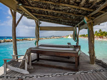 Plage de mambo - lits de massage Photographie stock