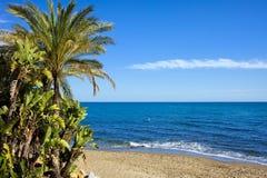 Plage de Marbella en Espagne Photos libres de droits