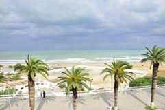 Plage de Marsa Corniche de La, Tunisie photo libre de droits