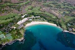 Plage de Mauna Kea, grande île, Hawaï Images libres de droits