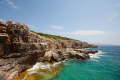Plage de Mer Adriatique dans Kotor Photographie stock libre de droits