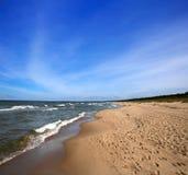 Plage de mer baltique Photos stock