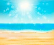 Plage de mer d'été Photographie stock