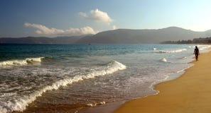 Plage de mer de sud de la Chine, Hainan ; Sanya, baie de Yalong Photos stock