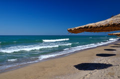 Plage de mer en Bulgarie Photos stock
