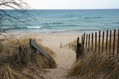 Plage de Michigan de lac photographie stock libre de droits